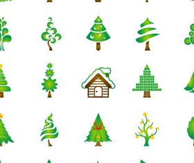 hristmas Green Trees vector