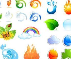crystal texture icon design vectors