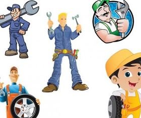 maintenance man vector