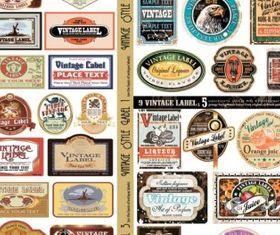 european retro label creative vector