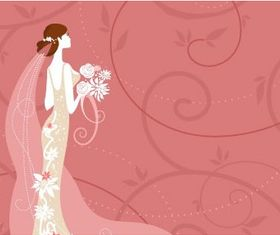 wedding card background 02 vector graphics