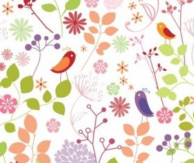 Floral pattern free design vector