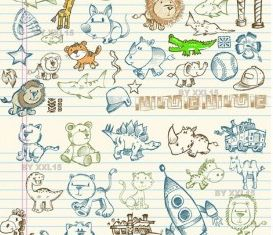 cute graffiti pattern vector