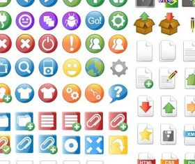Icon Set for Web Design vector
