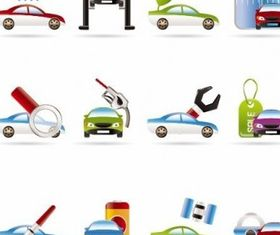 Car Services Icons vector design