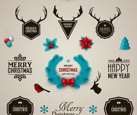 Christmas Different Symbols vector