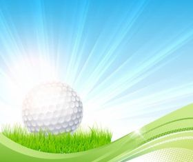 Golf flow background vector