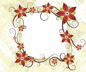 Silk Flower Design Card design vectors