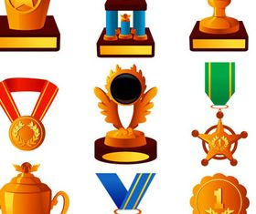 Award Golden Icons vector