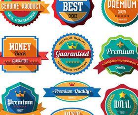 Shiny Retro Labels vector