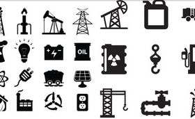 Black Oil Icons design vector