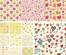 heart background art vector set