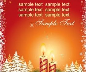 Christmas Card Template vectors