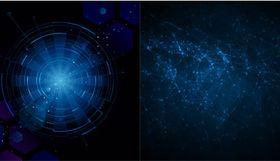 Blue Dark Backgrounds vectors graphics