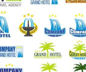 Stylish Hotel Logotypes vector