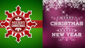Merry Christmas Backgrounds vectors material