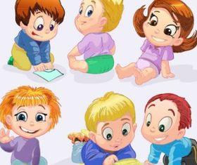 cartoon children 04 vector design