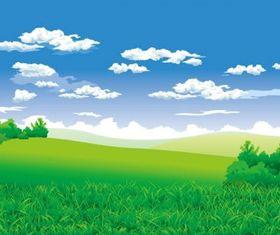 beautiful countryside scenery vector
