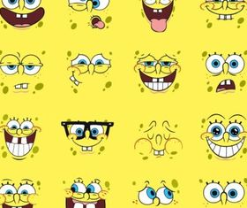 Spongebob Cartoons set vector
