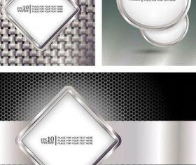 metallic frame 2 vector graphics