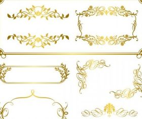 gold lace pattern 05 creative vector