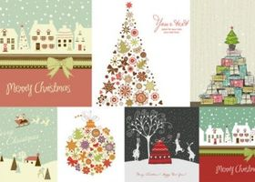 christmas theme design vector