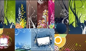 fashion trend background pattern vector graphics