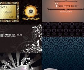 decorative background vector material