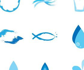 Water Symbols free vector