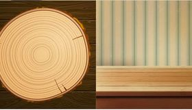 Wooden Backgrounds 2 vector graphics