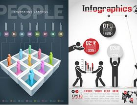 Infographics with People 2 vector