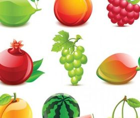 crystal fruit 2 vector graphic