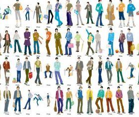 Fashion models Illustration vector set