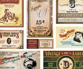 wine label collection 05 design vectors