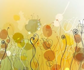 Abstract Floral Background Illustration vector design