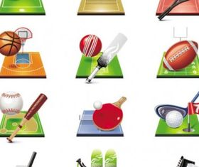 sportsrelated icons 04 vectors