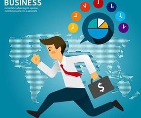Backgrounds with Businessman vectors graphics