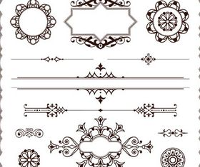 Ornament Borders Elements 19 vector