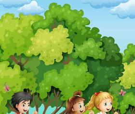 Backgrounds with Children vector