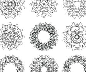 Circle Ornate Elements 6 Illustration vector