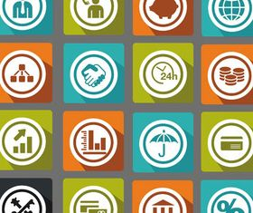 Business Flat Icons Mix 2 vector set