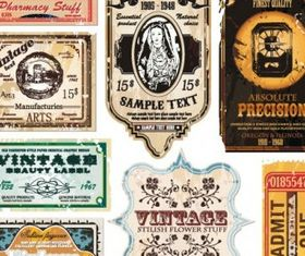 vintage wine label collection 06 vector