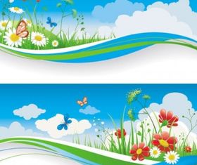spring banner 01 vector