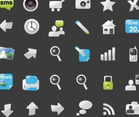 Website Element Icons for Web Design vector
