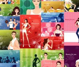 fashion pattern 2 vector design
