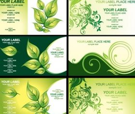 environmental theme card template 3 vectors material