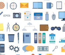 Flat Various Icons vector