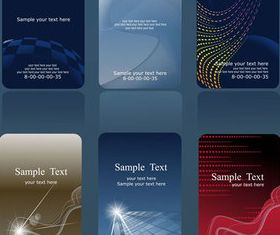 Business cards set vectors graphic