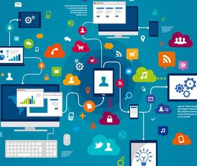 Network Backgrounds 6 vector
