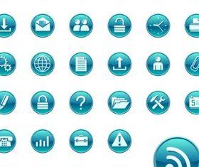 simple blue circular icon vector